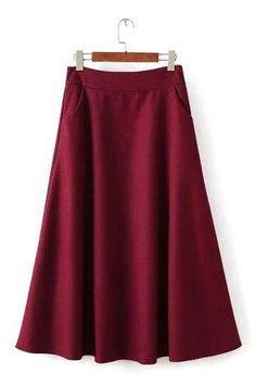 Look on point this season in this pleated midi skirt. With it's high-rise waist, side pockets and back zip closure, wear with a black crop top, leather jacket and knee highs for effortless style. Pleated Midi Skirt, Denim Mini Skirt, High Waisted Skirt, Tweed Skirt, Midi Skirts, Burgundy Skirt, Purple Skirt, Skirts With Pockets, Wool Skirts