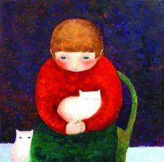 Artodyssey: Cezara Kolesnik Paris, Christmas Ornaments, Disney Princess, Holiday Decor, Disney Characters, Boys, Cat Breeds, Baby Boys, Montmartre Paris