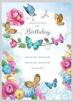 Victoria Nelson - Birthday Floral Butterflies 4