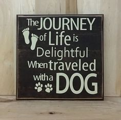 Dog wood sign Personalized Wood Signs, Custom Wood Signs, Personalized Stationery, Wooden Signs, Dog Signs, Funny Signs, Dog Lover Gifts, Dog Lovers, Distressed Signs
