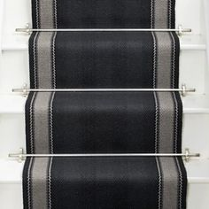 Henley Soft Black runner stairs carpet in Black and Grey uk location