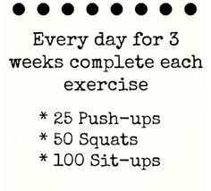 fitness plan. 3 day. Squat. Pushups