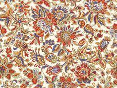 Fabric with colourful Batik pattern. #indonesian #batik #fabric #repeat #pattern