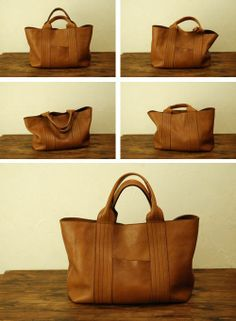 leather purses and handbags Leather Purses, Leather Handbags, Leather Bags, Leather Briefcase, Tan Leather, Tote Handbags, Purses And Handbags, Leather Projects, Handmade Bags