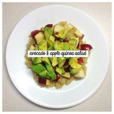 clean eating avocado, apple & quinoa salad - SO good!  Perfect balance of sweet & savory. #cleaneating #fitnessblog #fitspo
