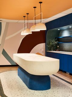 the short list: our favorite home trends of 2020 — the delight of design organic shape freeform colorful architecture Design Commercial, Commercial Interiors, Commercial Furniture, Bauhaus, Mark Henry, Modern Home Bar, Interior Design Awards, Workspace Design, Home Trends