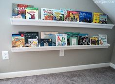 How To Create Rain Gutter Book Shelves Love This Easy Diy Project