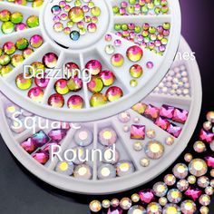 3D Jewellery nail rhinestone faceted Crystal deco nail art tip manicure #R29#R30 -- BuyinCoins.com