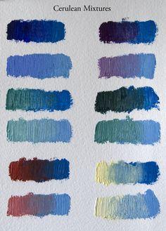 Favorite Paint Mixtures: Cerulean Blue | Elizabeth Floyd