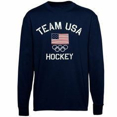 US Figure Skating Fired Up Long Sleeve T-Shirt - Navy Blue is available now at FansEdge. Team Usa Hockey, Caps Hockey, Olympic Hockey, Hockey Gear, Flyers Hockey, Us Figure Skating, Ice Skating, Hockey Sweatshirts, Hoodies