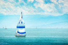 yacht at sea ...  beautiful, blue, boat, boating, cloud, coast, colorful, cruise, horizon, journey, lake, landscape, leisure, luxury, marine, maritime, modern, nature, nautical, navigation, nobody, ocean, outdoor, recreation, regatta, sail, sail-boat, sailboat, sailer, sailing, scene, scenery, sea, seascape, ship, sky, sport, summer, sunny, tallship, tourism, travel, trip, vessel, view, water, white, wind, yacht, yachting