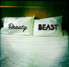pillowcas, beauty beast, gift ideas, hous, beautybeast, disney, the beast, bedroom, wedding gifts