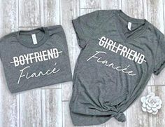 online shopping for cute fiance shirt fiance matching tees couple shirts matching couple tees engagement gift idea from top store. See new offer for cute fiance shirt fiance matching tees couple shirts matching couple tees engagement gift idea Couple Tees, Matching Couple Shirts, Matching Couples, Matching Set, Bride Shirts, Engagement Party Planning, New Grandma, Anniversary Gifts For Couples, Vestidos
