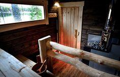 Vaarin sauna - Salvos Sauna House, Outdoor Sauna, Sauna Design, Finnish Sauna, Best Cleaning Products, Spa Rooms, Small Buildings, Massage Room, Laundry In Bathroom