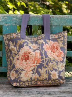 Ramble from the farmers market to the coffee shop and back again. The Rose Nouveau Market Bag is light, easy, and tantamount to carrying a gorgeous bouquet of flowers with you everywhere you roam! Made in 100% imported cotton canvas for durability with matching solid canvas straps.