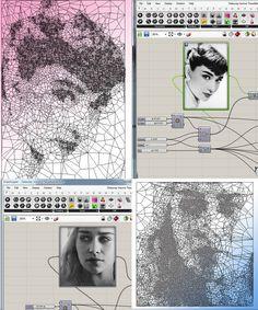Voronoi Delaunay Tessellation – Grasshopper