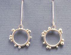 Sterling silver hoop earrings Modern silver by CopperSpineStudio,