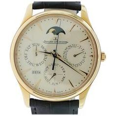 Jaeger LeCoultre Yellow Gold Master Ultra Thin Perpetual Wristwatch Ref 130252