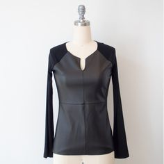 Nu Construction Leather Top