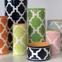 Pattern and color vases