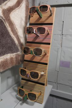 Wooden striped sunglasses - South Africa