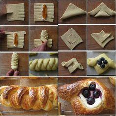 Food ツ Danishes, Dessert Recipes, Desserts, Finger Foods, Food Art, Food To Make, Waffles, Biscuits, Sweet Treats