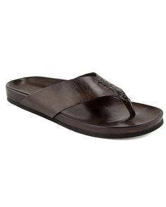 To Boot New York | Brown Antigua Thong Sandal | Shoes | Men's