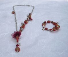 Sautoir et bracelet Maya