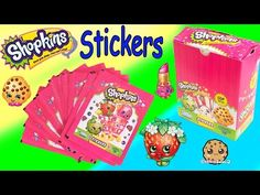 4 Shopkins Season 1 & 2 STICKERS Blind Bag PACKS Collection Box Unboxing Video Cookieswirlc - YouTube