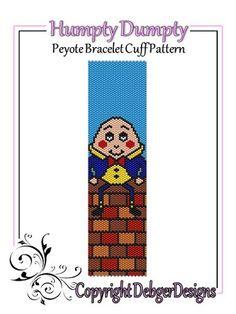 Humpty Dumpty - Beaded Peyote Bracelet Cuff Pattern   DebgerDesigns - Patterns on ArtFire