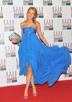 Blake lively blue dress