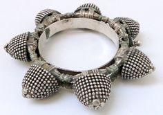 Rajasthan antique tribal silver bracelet, from Dangee and Patel (Farmers) women.