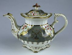 English Porcelain Tea Set  Pre 1837.