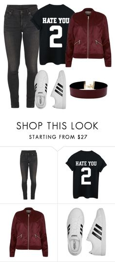 """Outfit#17"" by ludivinementmoi on Polyvore featuring mode, Citizens of Humanity, River Island, adidas et Vanessa Mooney"