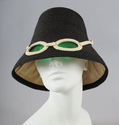 A fab #vintage 1960s Italian sunglasses hat from Marie McLeod available on Ruby Lane