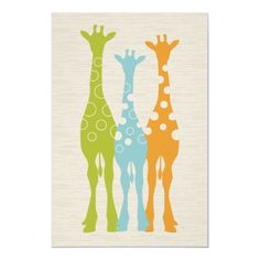 Giraffe Nursery Print. perfect colors!