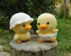 Amigurumi Hatching Chick - FREE Crochet Pattern / Tutorial