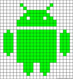 Android perler bead pattern