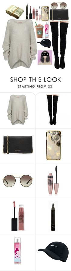 """""""I need a coffee"""" by tryn11 ❤ liked on Polyvore featuring Bodhi, Marc Jacobs, Skinnydip, Prada, Maybelline and NIKE"""