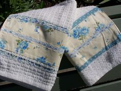 Blue and Cream tea towel set | A set of two blue and cream t… | Flickr