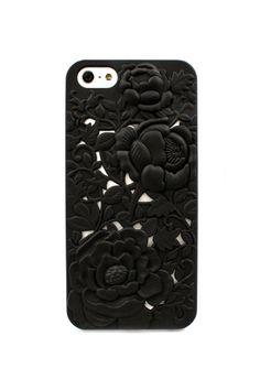 Jet Chrysanthemum iPhone Case