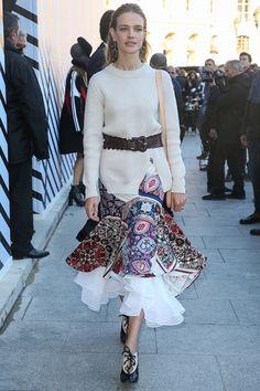 WHO: Natalia Vodianova WHAT: Louis Vuitton WHERE: On the street, Paris WHEN: October 5, 2016