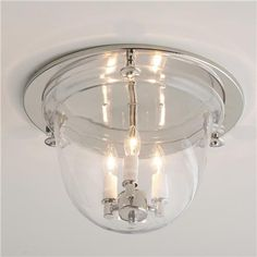 This is a great fixture for the low ceilings in my house. Flush Ceiling Bell Lantern - 4 finishes