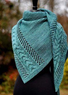 knitting shawl Ravelry: Anisah pattern by Dee OKeefe Knitted Shawls, Crochet Scarves, Crochet Shawl, Knit Crochet, Crochet Cats, Knitting Scarves, Crochet Geek, Crochet Birds, Crochet Food
