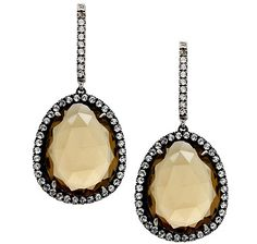 You'll get an abundance of glamour when you wear these rose cut gemstone and topaz sterling silver earrings.