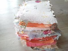 Pack of 6 pieces of handmade paper with by RaggedRosePaperworks, $9.00