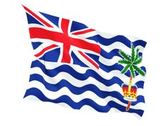 The national flag of the British Indian Ocean Territory is just like the flags of other British colonies and dependencies as it consists of the Union Flag at the higher hoist-side. British Indian Ocean Territory, National Flag, Symbols, Image, Icons, Glyphs