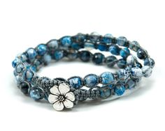 Blue Ocean cool colored surfer chick beaded stone by GemsdeVine, $32.99