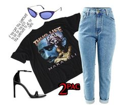 """2pac Tshirt  #polyvore #fashion #tupac"" by luciargx ❤ liked on Polyvore featuring Tom Ford, Stuart Weitzman and California Love"