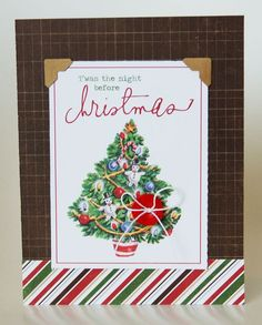 Twas the Night before Christmas Card from Very Merry Christmas Collection. #echoparkpaper
